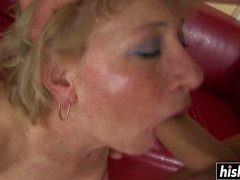 Blonde cougar wants a young pecker