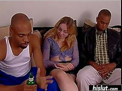 Amber Grey takes a big black cock