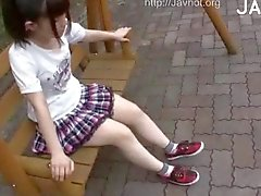 Girl Gets Examined Outdoor