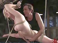 Compilation shots of hard and heavy BDSM bondage and torture action