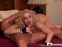 Blonde in fishnets gets plowed in hardcore fashion