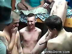 Gay College Boys Sucking Dick As A Team At Frat Party