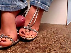 High heel foot job