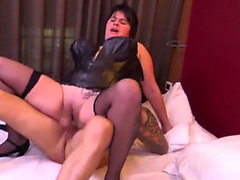 Brunette milf anal with facial cum