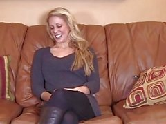 Blonde gives first blowjob on video for BrandNewAmateurs