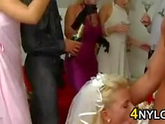 Wedding Party Having Group Sex