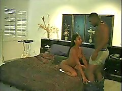 Young black chick gets her wet pussy licked by buff guy