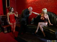 Porstars Diamond Jessica Asa and Sabrina have orgy with studs