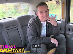Female fake taxi boy acquires fortunate with hawt dark brown