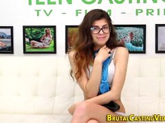 Bound sub teen fingered