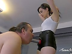 mistress anna with her fat slave