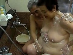 Asian japanese mature in anal play