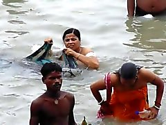 GANGA chubby stepaunties bathing