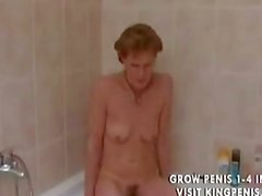 Kinky grandma peeing and shaving,.,..