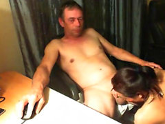 Older mature interracial blowjob