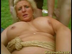 wild outdoor groupsex party