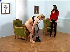 Plump, Chubby Girl Receives a Caning