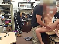 Babe selling her car flashes tits and fucked by pawn man