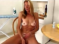 sexy older mom uses the banana