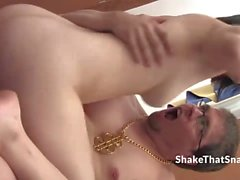 Titty fucked 19yo Heather gets doggystyle fucked