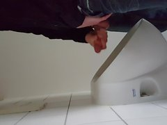 Jerk at Office toilet