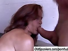Sherry is a skinny mature babe who loves sticky facial cumshots