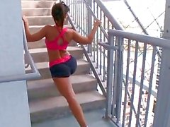 Awesome Tart Lisa Ann Stretches...