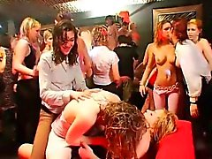 Wild gals are drenched with longing during orgy party