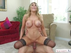 Blond Bimbos in Stockings: Reverse Cowgirl Cumpilation (with cumshots)