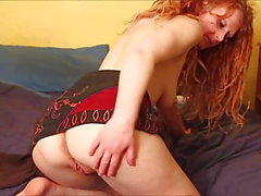 Amateur British redhead wife Daisy stripping for strangers