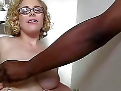 Penny Pax gets her glasses jizzed at gloryhole
