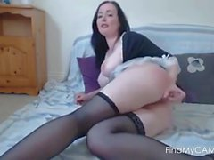 Brunette anal webcam show