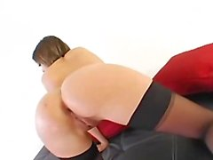 Anal whore in heels bum fucking hard
