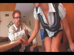 Hot maid Nikki caught stealing and strip searched