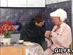 Very Old Lesbians In The Kitchen