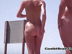 Hot Blonde Nudist Milf Naked At The beach With Hubby Spycam
