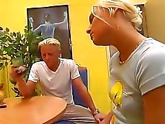 Blonde German chick likes it rough