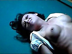 celebrity nude sex scene Candice Lewald - violent scene in Gutterballs