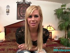 Alluring Blonde Zoe Hammered In Her Jeans