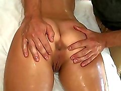Delighting babe with massage