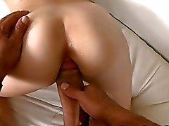Karmen Blaze vs her first black cock
