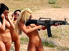 Playmates getting naked and do extreme outdoor sports