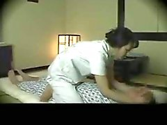 Lucky boy fucked with cute masseuse